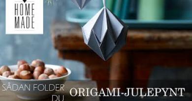 Origami, Origami kugle, Origami julepynt, julepynt Origami, julepynt Origami kugle, Origami med lim, Origami youtube