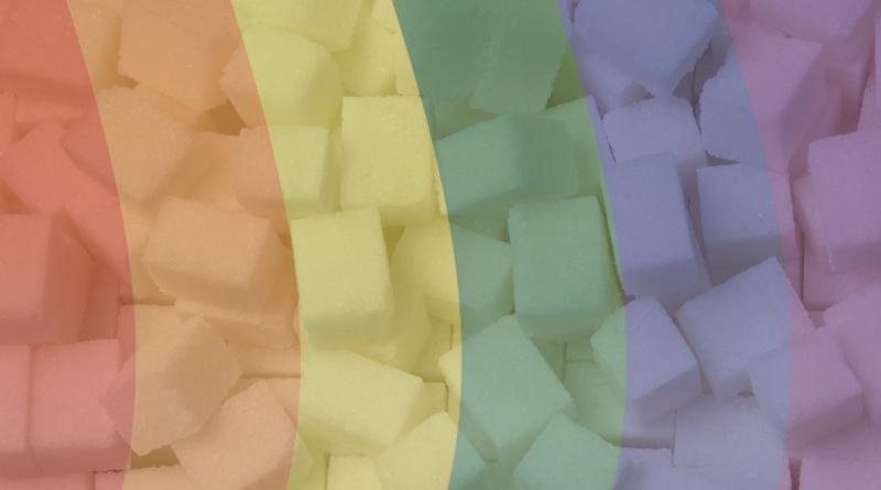 sådan farver du sukker, farv dit eget sukker, frugtfarvet sukker, hjemmelavet farvet sukker