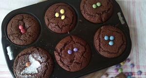 chokolade muffins, muffins til fødselsdagen, chokolade muffins